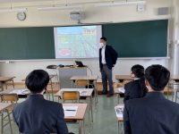 門川高校「地元企業による説明会」に参加しました。