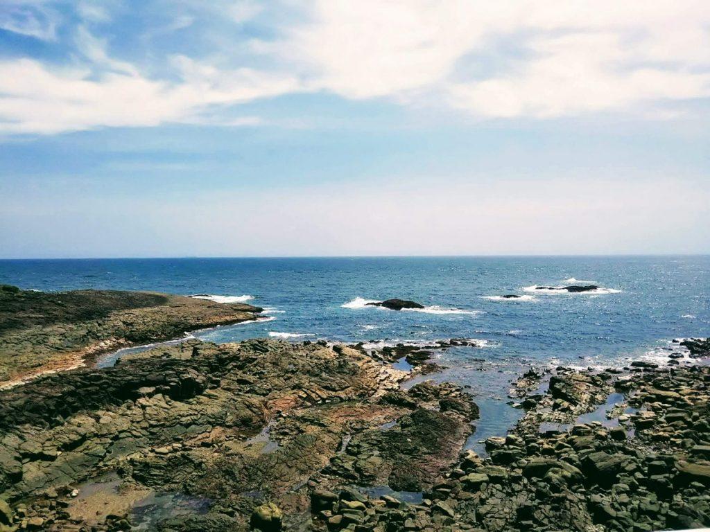 望洋館から望む太平洋